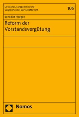 Abbildung von Hoegen | Reform der Vorstandsvergütung | 2018 | 105