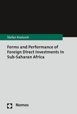 Abbildung von Kratzsch | Forms and Performance of Foreign Direct Investments in Sub-Saharan Africa | 2018