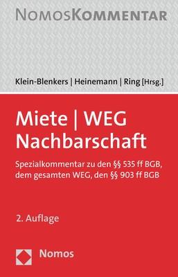 Miete - WEG - Nachbarschaft | Klein-Blenkers / Heinemann / Ring (Hrsg.) | 2. Auflage, 2019 | Buch (Cover)