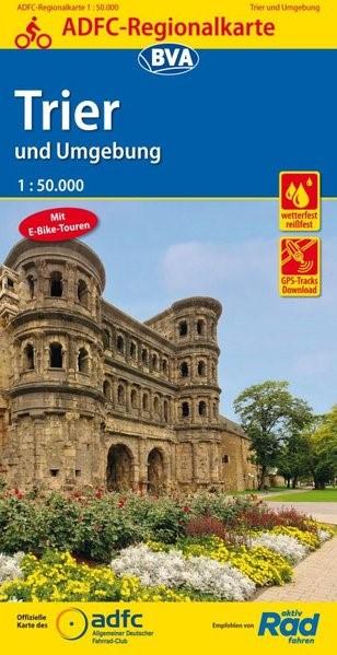 Abbildung von ADFC-Regionalkarte Trier und Umgebung mit Tagestouren-Vorschlägen, 1:50.000 | 6. Auflage | 2018