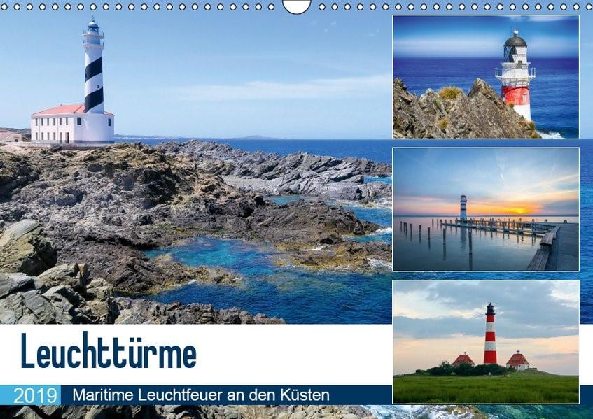 Leuchttürme - Maritime Leuchtfeuer an den Küsten (Wandkalender 2019 DIN A3 quer) | Bosse | 3. Edition 2018, 2018 (Cover)