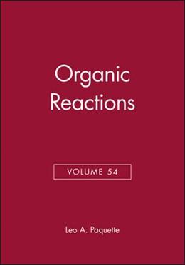 Abbildung von Paquette | Organic Reactions | 1999 | Volume 54 | 54