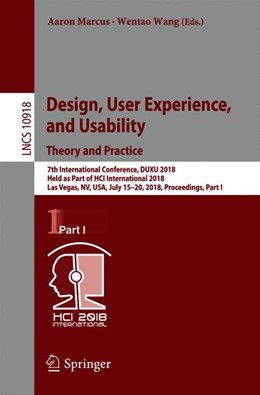 Abbildung von Marcus / Wang | Design, User Experience, and Usability: Theory and Practice | 2018 | 7th International Conference, ...