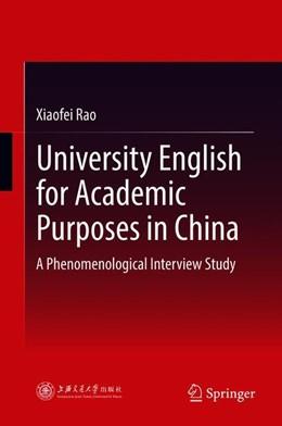 Abbildung von Rao   University English for Academic Purposes in China   1. Auflage   2018   beck-shop.de