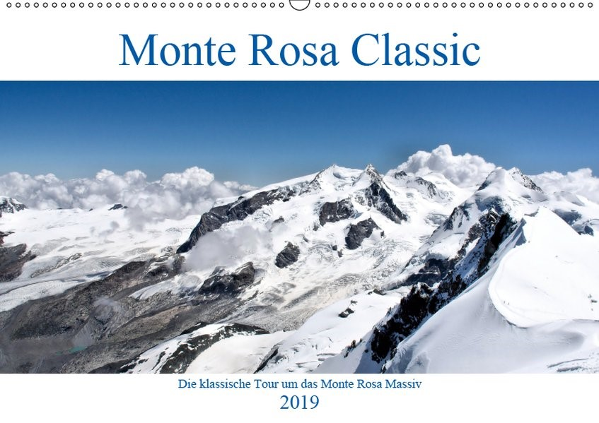 Abbildung von A. Langenkamp | Monte Rosa Classic - Die klassische Tour um das Monte Rosa Massiv (Wandkalender 2019 DIN A2 quer) | 3. Edition 2018 | 2018