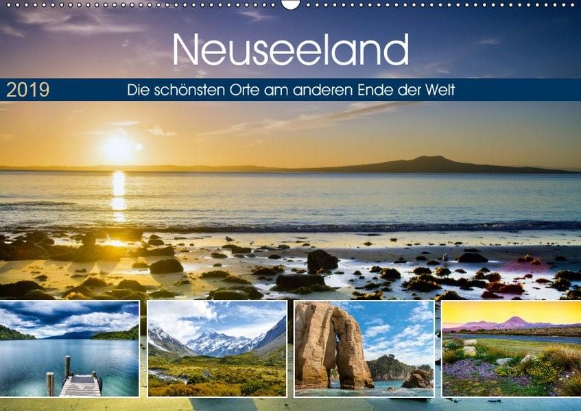 Neuseeland - Die schönsten Orte am anderen Ende der Welt (Wandkalender 2019 DIN A2 quer) | Bosse | 3. Edition 2018, 2018 (Cover)