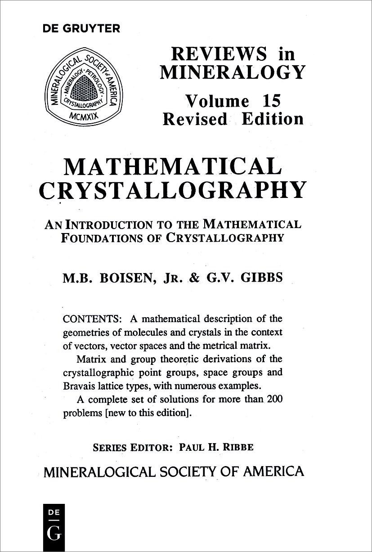 Mathematical Crystallography | Boisen / Gibbs, 2018 | Buch (Cover)