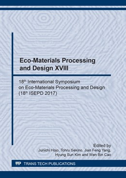 Abbildung von Hojo / Sekino / Yang / Kim / Cao | Eco-Materials Processing and Design XVIII | 2018 | 18th International Symposium o... | Volume 922