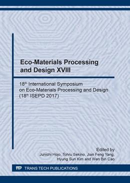 Abbildung von Hojo / Sekino / Yang / Kim / Cao | Eco-Materials Processing and Design XVIII | 2018 | 18th International Symposium o... | Volume 922