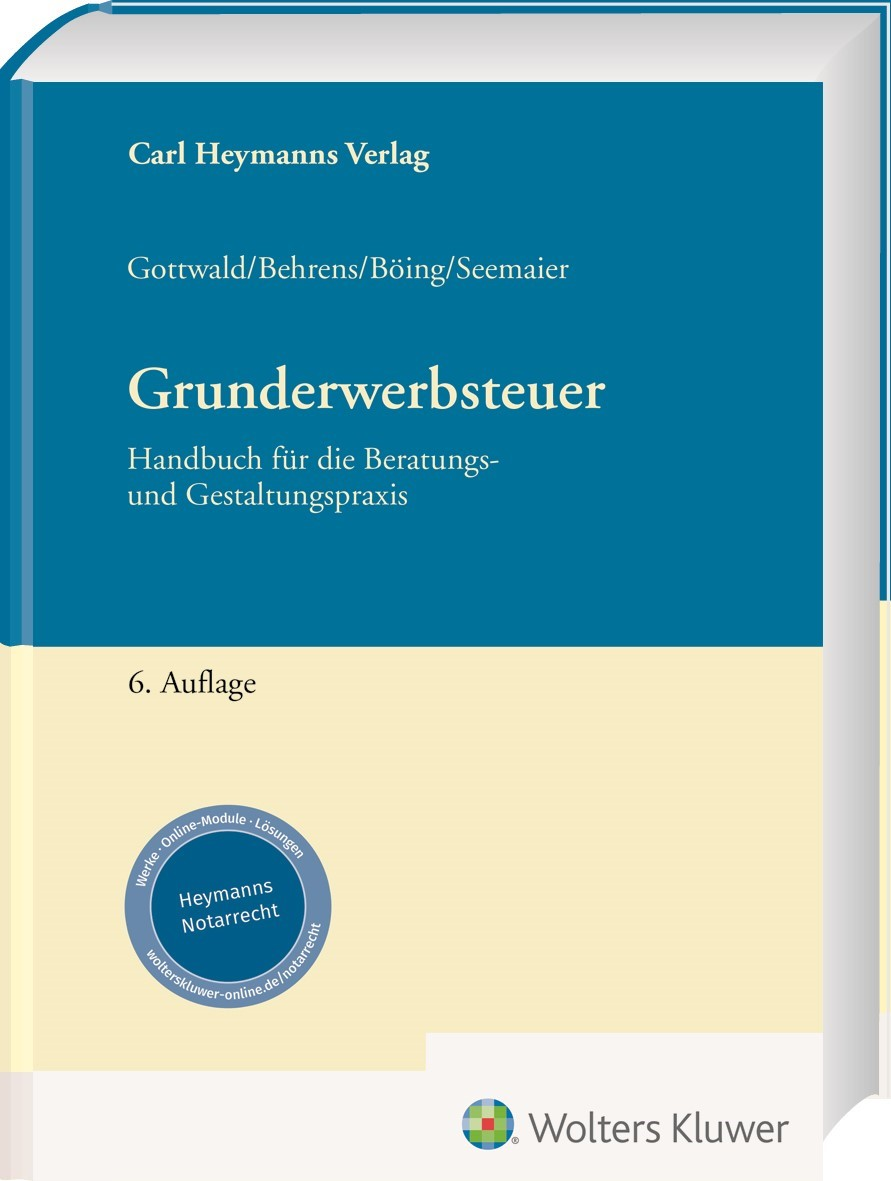 Grunderwerbsteuer | Gottwald / Behrens | 6. Auflage, 2018 | Buch (Cover)