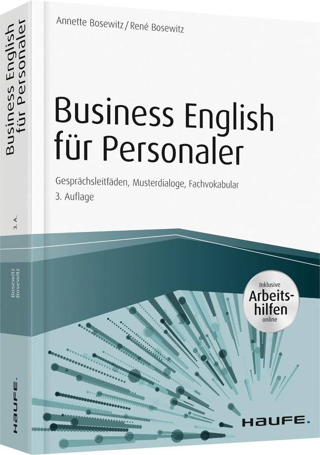Business English für Personaler - inkl. Arbeitshilfen online portal | Bosewitz / Bosewitz | 3. Auflage, 2018 | Buch (Cover)