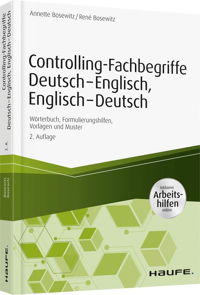 Controlling-Fachbegriffe Deutsch-Englisch, Englisch-Deutsch - inkl. Arbeitshilfen online | Bosewitz | 2. Auflage 2018, 2018 | Buch (Cover)