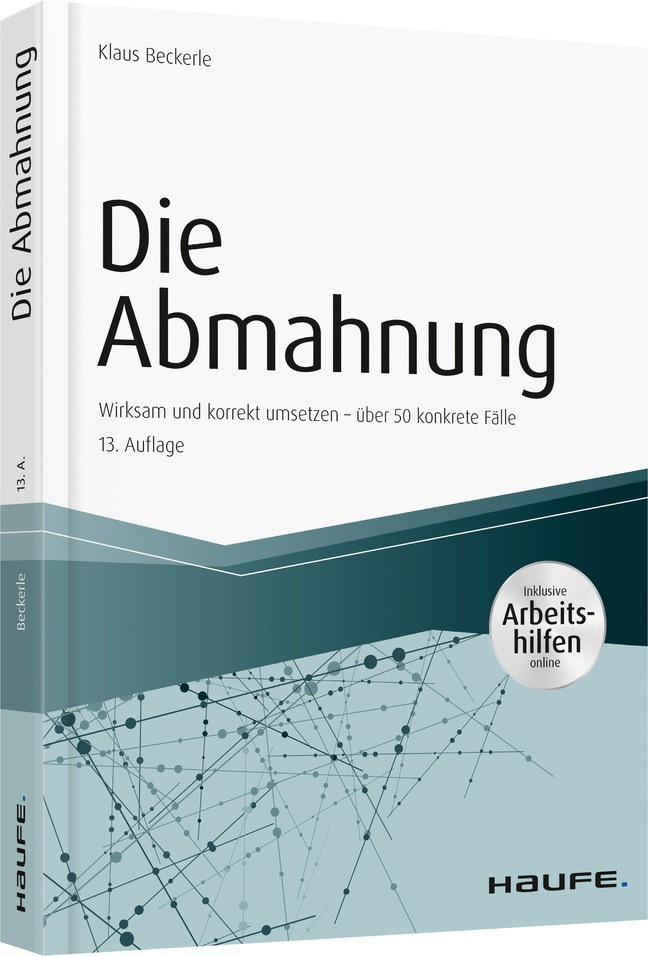 Die Abmahnung   Beckerle   13. Auflage, 2018   Buch (Cover)
