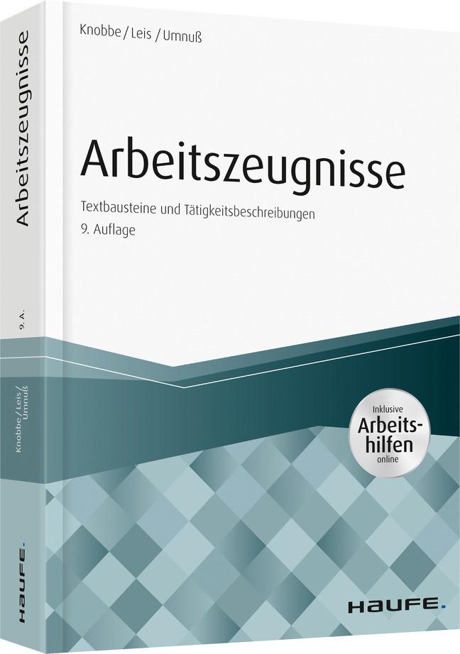 Arbeitszeugnisse   Knobbe / Leis / Umnuß   9. Auflage, 2018   Buch (Cover)