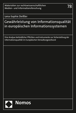 Abbildung von Deißler | Gewährleistung von Informationsqualität in europäischen Informationssystemen | 1. Auflage | 2018 | 78 | beck-shop.de