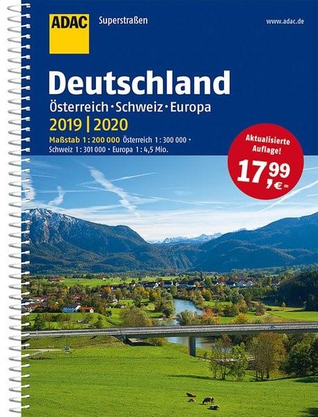ADAC Superstraßen Deutschland, Österreich, Schweiz & Europa 2019/2020 1:200 000 | 12. Auflage, 2018 | Buch (Cover)