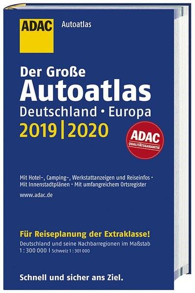 Großer ADAC Autoatlas 2019/2020, Deutschland 1:300 000, Europa 1:750 000, 2018   Buch (Cover)