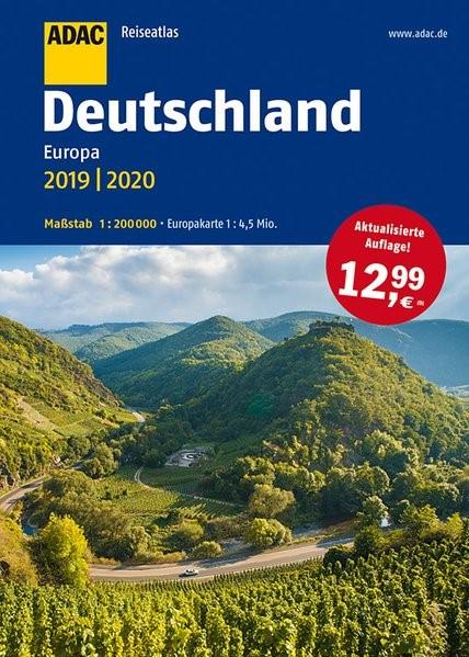 ADAC Reiseatlas Deutschland, Europa 2019/2020 1:200 000 | 11. Auflage, 2018 | Buch (Cover)