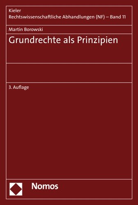 Grundrechte als Prinzipien | Borowski | 3. Auflage, 2018 | Buch (Cover)