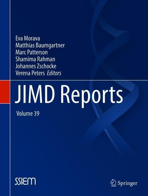 JIMD Reports, Volume 39 | Morava / Baumgartner / Patterson / Rahman / Zschocke / Peters, 2018 | Buch (Cover)