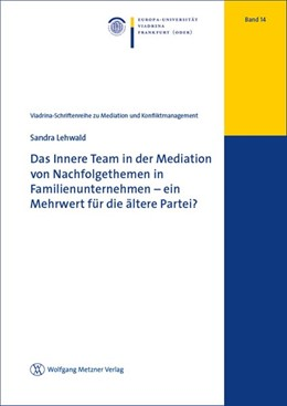 Abbildung von Lehwald | Das Innere Team in der Mediation von Nachfolgethemen in Familienunternehmen - ein Mehrwert für die ältere Partei? | 1. Auflage | 2018 | beck-shop.de