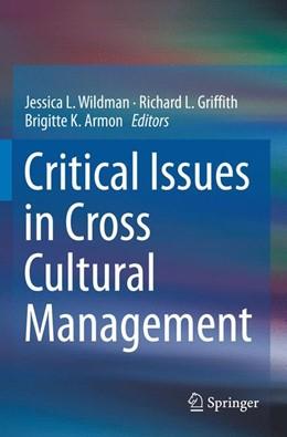 Abbildung von Wildman / Griffith / Armon | Critical Issues in Cross Cultural Management | 2018
