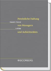 Persönliche Haftung von Managern und Aufsichtsräten   Thümmel   Buch (Cover)