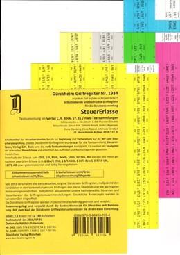 Abbildung von Glaubitz / Dürckheim | Dürckheim-Register - Steuererlasse | 12. überarbeitete und aktualisierte Auflage | 2018 | 160 bedruckte Griffregister