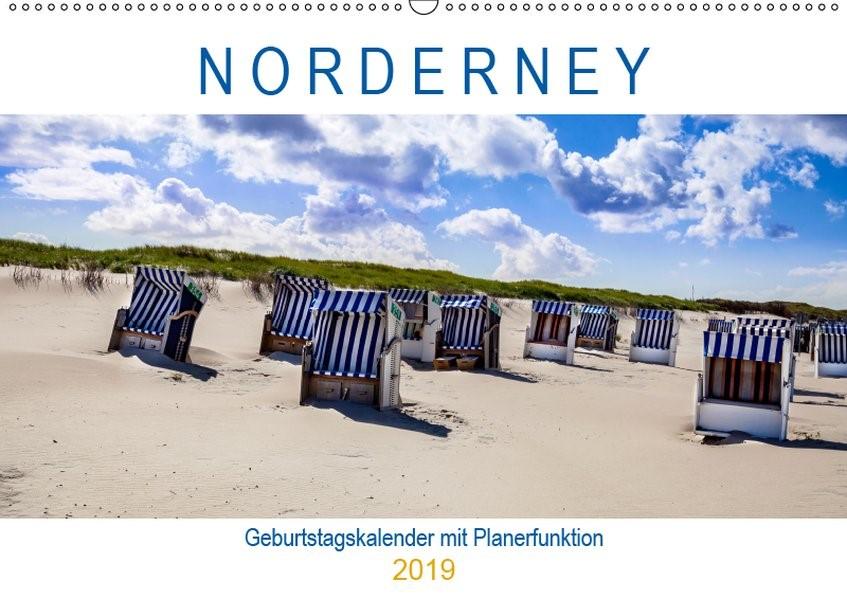 Abbildung von Dreegmeyer | NORDERNEY Geburtstagskalender mit Planerfunktion (Wandkalender 2019 DIN A2 quer) | 2. Edition 2018 | 2018