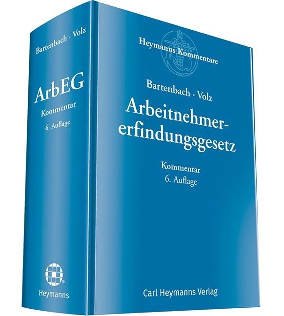 Arbeitnehmererfindungsgesetz | Bartenbach / Volz | 6. Auflage, 2019 | Buch (Cover)