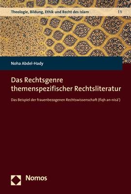 Das Rechtsgenre themenspezifischer Rechtsliteratur   Abdel-Hady, 2018   Buch (Cover)