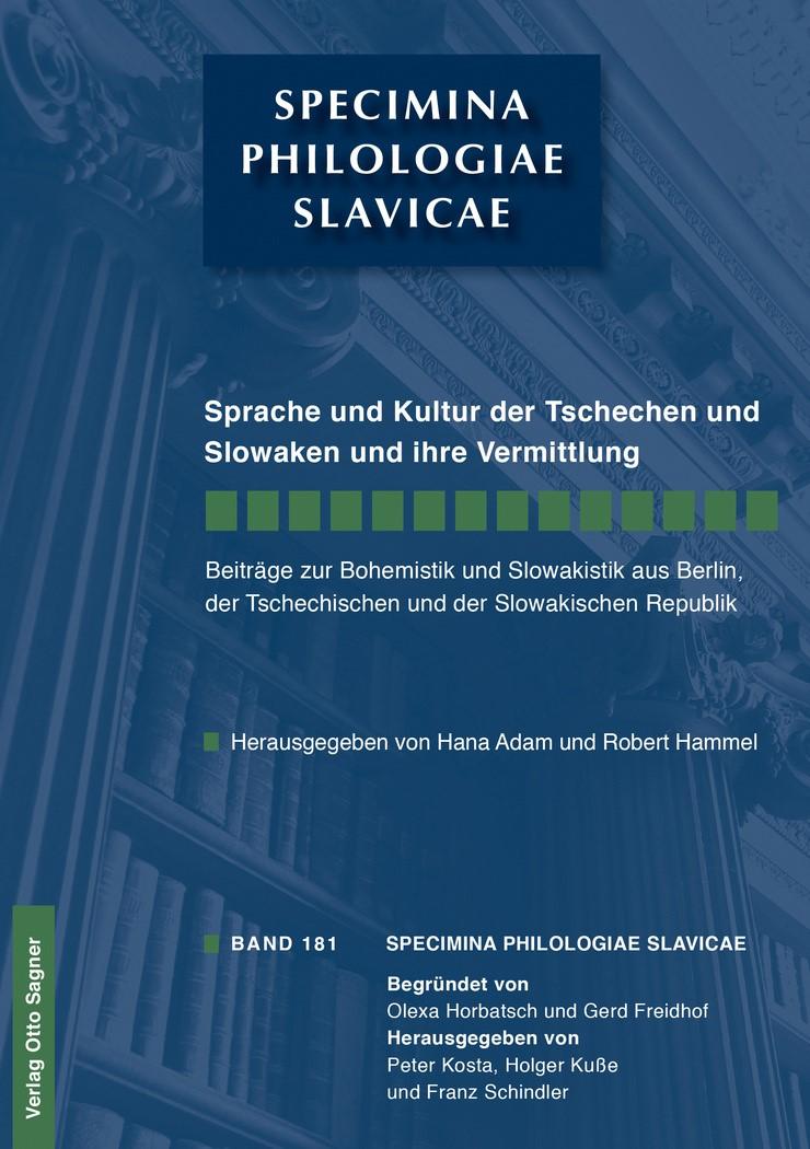 Sprache und Kultur der Tschechen und Slowaken und ihre Vermittlung   Adam / Hammel, 2014   Buch (Cover)
