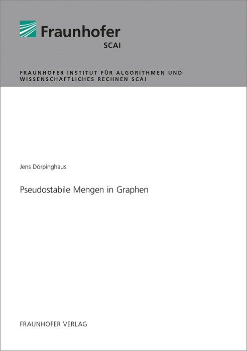 Pseudostabile Mengen in Graphen.   Dörpinghaus, 2018   Buch (Cover)