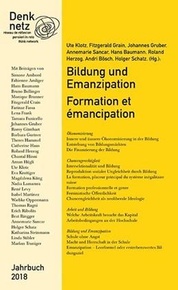 Abbildung von Denknetz   Jahrbuch Denknetz 2018: Bildung und Emanzipation   1. Auflage   2018   beck-shop.de