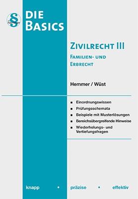 Basics Zivilrecht III   Hemmer / Wüst   9. Auflage, 2018   Buch (Cover)