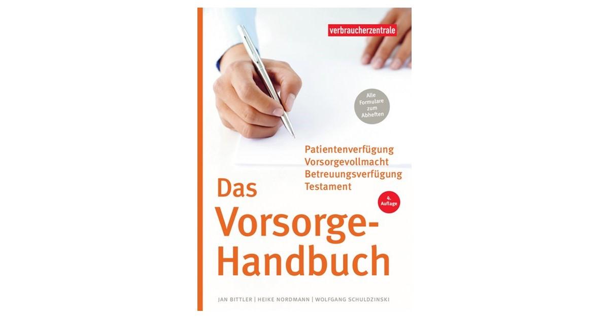Das Vorsorge Handbuch Bittler Schuldzinski Nordmann 4