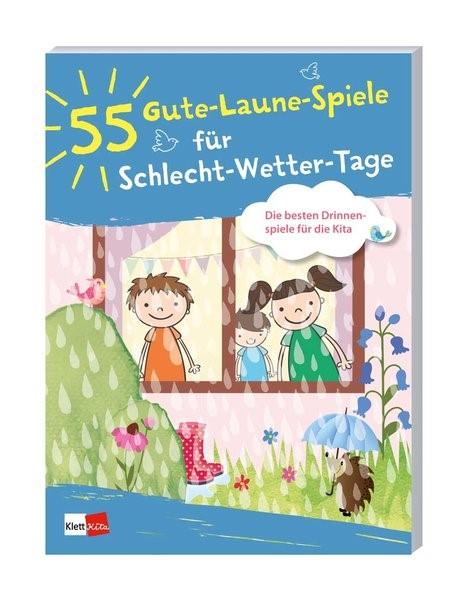 55 Gute-Laune-Spiele für Schlecht-Wetter-Tage, 2018   Buch (Cover)