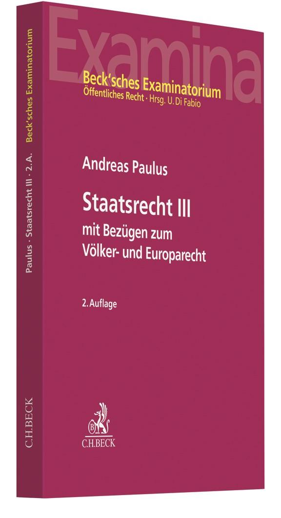 Staatsrecht III   Paulus   2. Auflage, 2019   Buch (Cover)