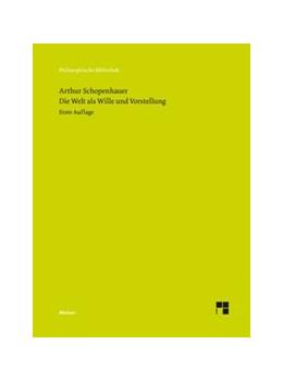 Abbildung von Schopenhauer / Koßler / Massei Junior | Die Welt als Wille und Vorstellung | 2020 | Kritische Jubiläumsausgabe der... | 717