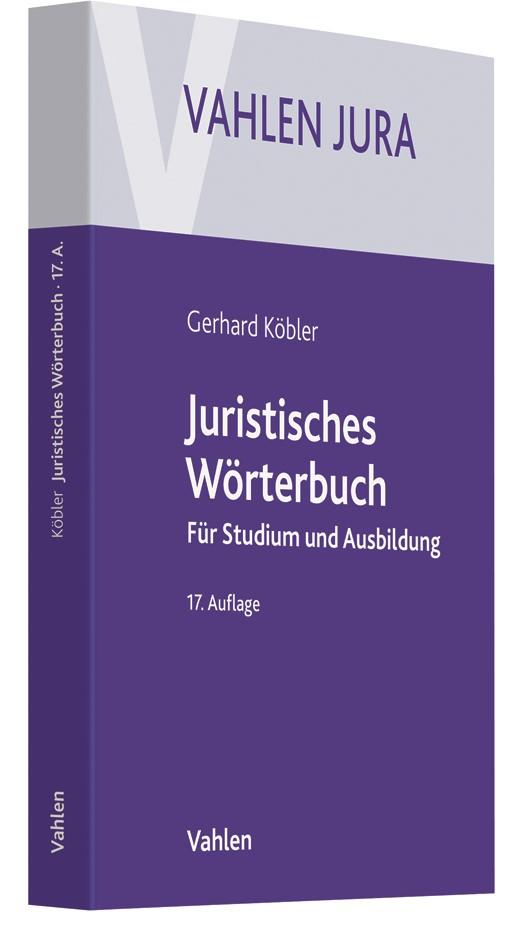 Juristisches Wörterbuch | Köbler | 17., neubearbeitete Auflage, 2018 | Buch (Cover)