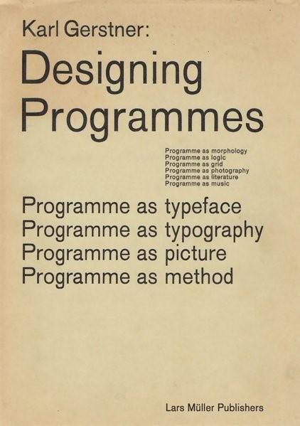 Abbildung von Gerstner | Designing Programmes | 2019