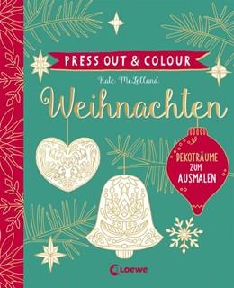 Abbildung von Press Out & Colour - Weihnachten | 2018 | Dekoträume zum Ausmalen