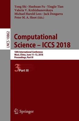 Abbildung von Shi / Fu   Computational Science – ICCS 2018   1. Auflage   2018   beck-shop.de