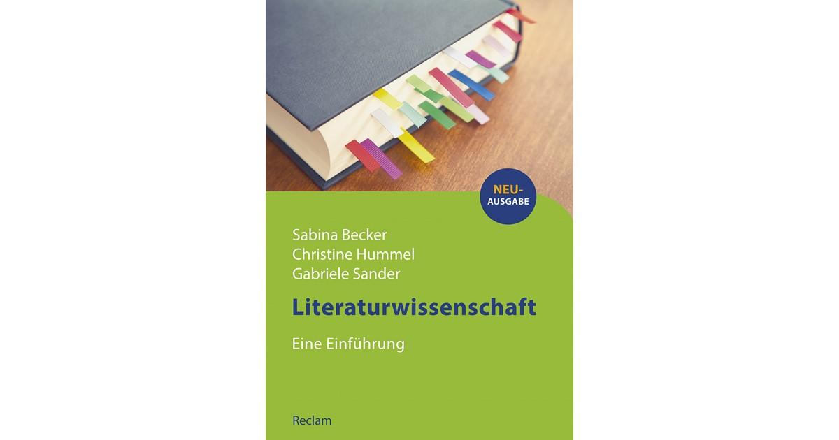 Becker Hummel Sander Literaturwissenschaft