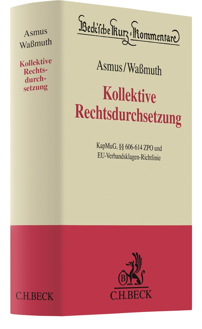 Musterfeststellungsklagen   Asmus / Waßmuth, 2019   Buch (Cover)