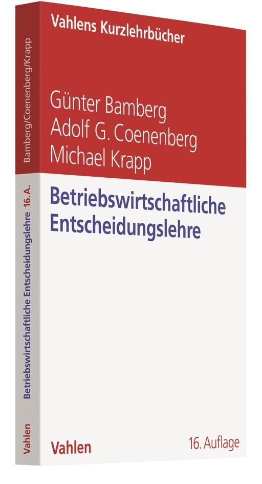 Betriebswirtschaftliche Entscheidungslehre | Bamberg / Coenenberg / Krapp | 16. Auflage, 2019 | Buch (Cover)