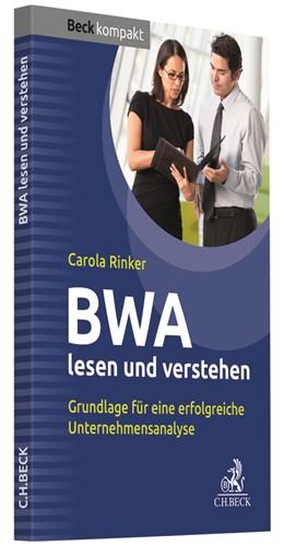 Abbildung von Rinker | BWA lesen und verstehen | 2019 | Grundlage für eine erfolgreich...