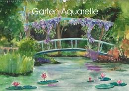 Abbildung von Krause | Garten Aquarelle (Wandkalender 2019 DIN A2 quer) | 3. Edition 2018 | 2018 | Aquarellgemälde mit Gartenthem...
