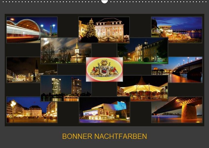 Abbildung von Bonn | BONNER NACHTFARBEN (Wandkalender 2019 DIN A2 quer) | 7. Edition 2018 | 2018