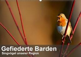 Abbildung von Krebs | Gefiederte Barden - Singvögel unserer Region (Wandkalender 2019 DIN A2 quer) | 6. Edition 2018 | 2018 | Flüchtige Besucher unserer Gär...